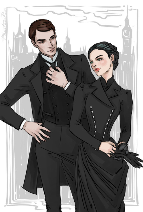 """Partners in crime solving - Cresswell & Wadsworth:) (""""Stalking Jack the Ripper"""" by @kerrimaniscalco)"""