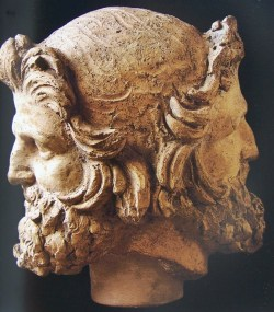 """theprolific:""""In ancient Roman religion and myth, Janus is the god of beginnings and transitions, also of gates, doors, passages, endings and time.""""Source: http://en.wikipedia.org/wiki/Janus"""