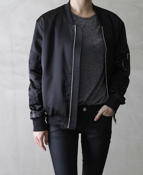 $12.89 Black bomber jacket. Get it »here« !