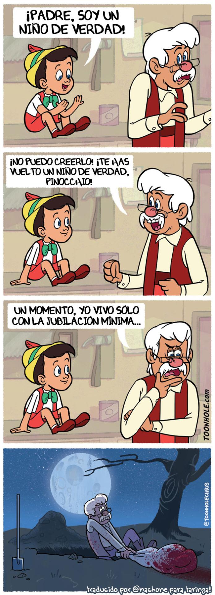 Pinocchio versión realista