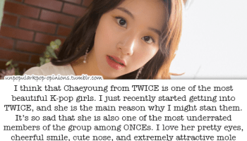 Ever since on Knowing brother Heechul said Chaeyoung from Twice