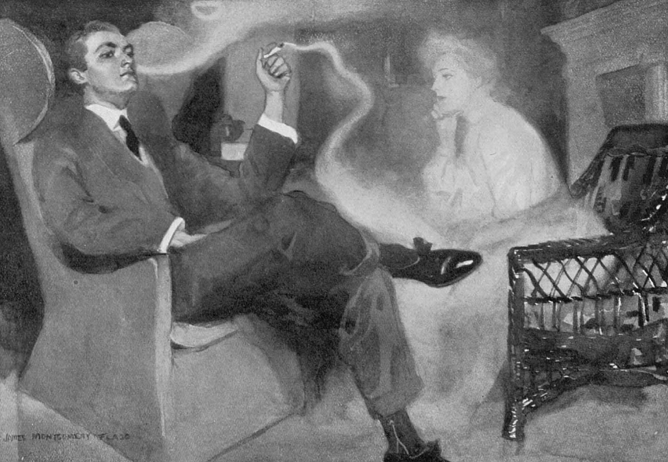 8c717da8fee Only Tobacco Smoke, by James Montgomery Flagg, 1904(Flagg would… – History