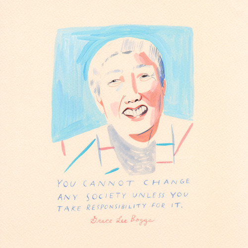 "Smile! It's national voter registration day, and here's a friendly reminder that we have an important job to do. The late Grace Lee Boggs–feminist, social activist, writer, community leader, and all-around inspiring woman– said ""You can't change..."