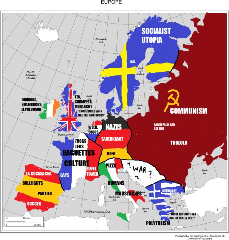 Mapa de Europa simplificado