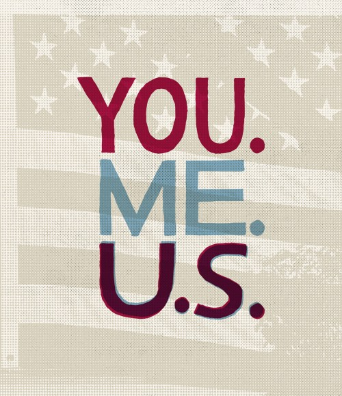 Protest Poster - YOU ME US - Frank Dresmé