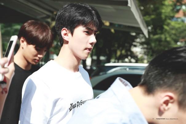 dailyexo: Sehun – 170915 KBS Music Bank, midway commute – [1,… – Exo