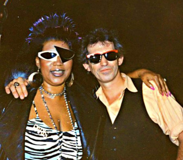 6999a75c02 Aretha Franklin and Keith Richards. It was the… – Glamrock