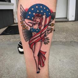 @broadstreettattoo thanks for looking 🙏🏻 #tattoo #sailorjerry #murica #henryonly #massachusetts