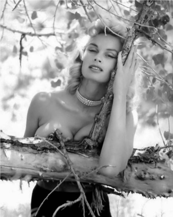 """040f74cf797 1950s Queen of the (Pinups and) Jungle  The towering 5 10"""" beauty Irish  McCalla."""