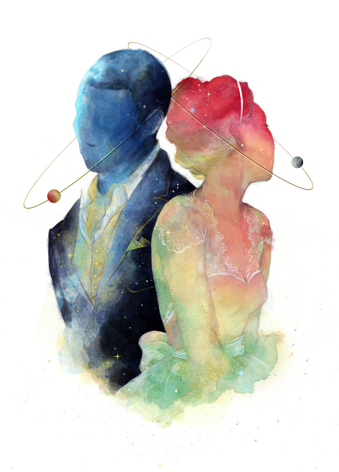 "beeinherbonnet:"" ""The probability of separate worlds meeting is very small. The lure of it is immense. We send starships. We fall in love."" - Jeanette Winterson """