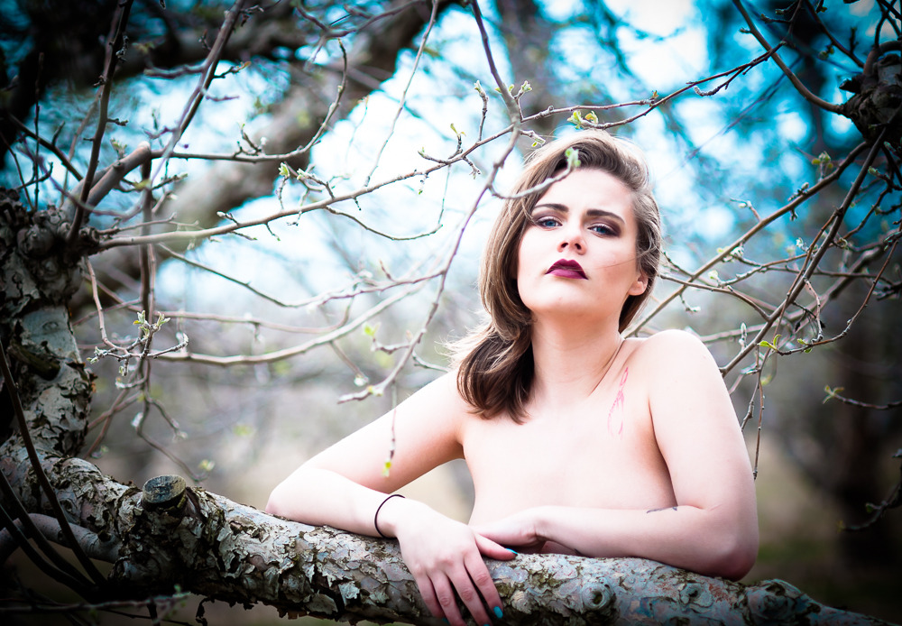 """""""Treat a work of art like a prince: let it speak to you first."""" ― Arthur Schopenhauer; Model: Alexbabe"""