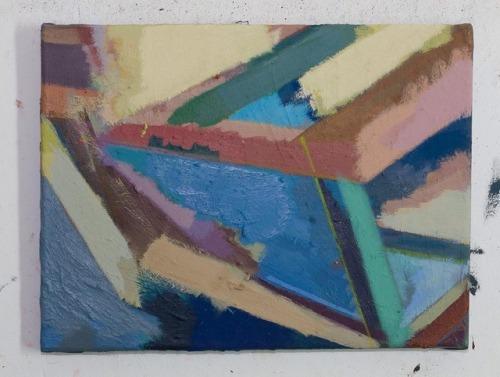 30 x 40 cm, Eitempera-Öl-Alkyd-Pigmente, 2017, #EggtemperaOil #finalstate #oiloncanvas #oilpainting #instaart #painting #grid #contemporaryart #peinture #fineart #berlinart #christophkern #malerei #contemporarypainting