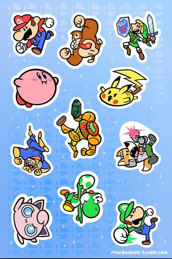 89aa53df Nintendo Stickers made by metagamemike – Gaming