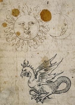 clawmarks:Albrecht Dürer - The Sun, the Moon, and a Basilisk - c.1512 - via Lapham's