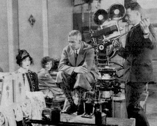 "howardhawkshollywood: ""Howard Hawks filming Trent's Last Case (1928). The last of his 8 silent films had sound added and was released only in England. It survives in an incomplete print. """