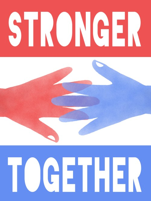 Protest Poster - Stronger Together - Jullian Chaitin