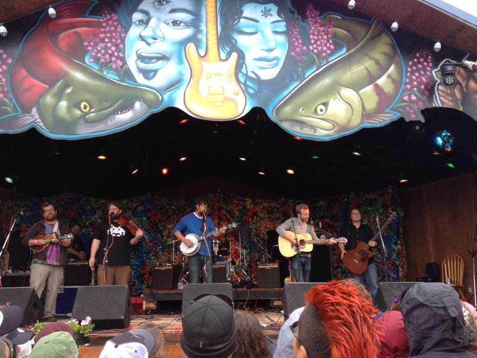 Trampled by Turtles performs at Salmonstock Music Festival