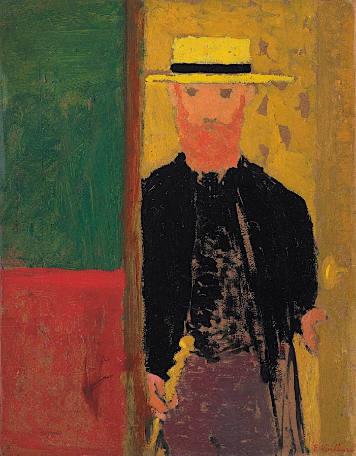 Edouard Vuillard -Self Portrait with Cane and Boater - ca.1891/92.