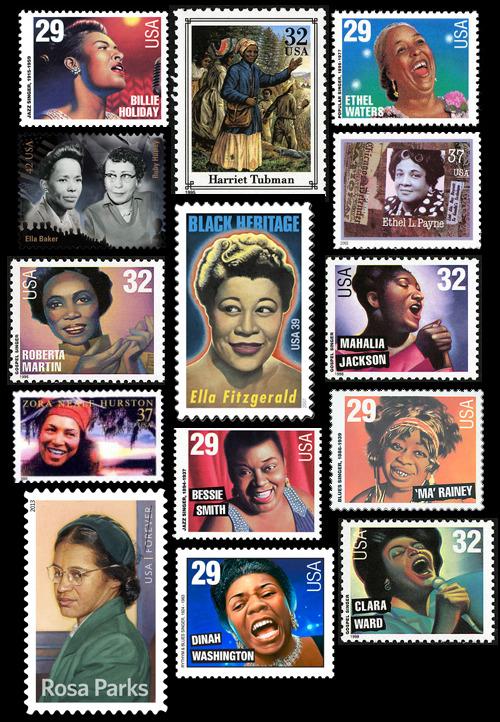 Black women on U.S.postage stamps.