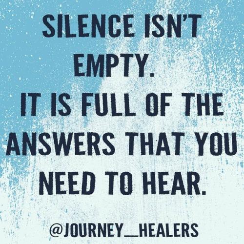 Silence is beautiful if you just listen. #quietthechaos #meditation #mindfulness #empty #answers #spirituality #spiritualgrowth #listentoyourheart #journeyhealers