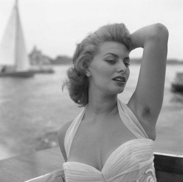 Sophia Loren can make even visible armpit hair seem sexy!