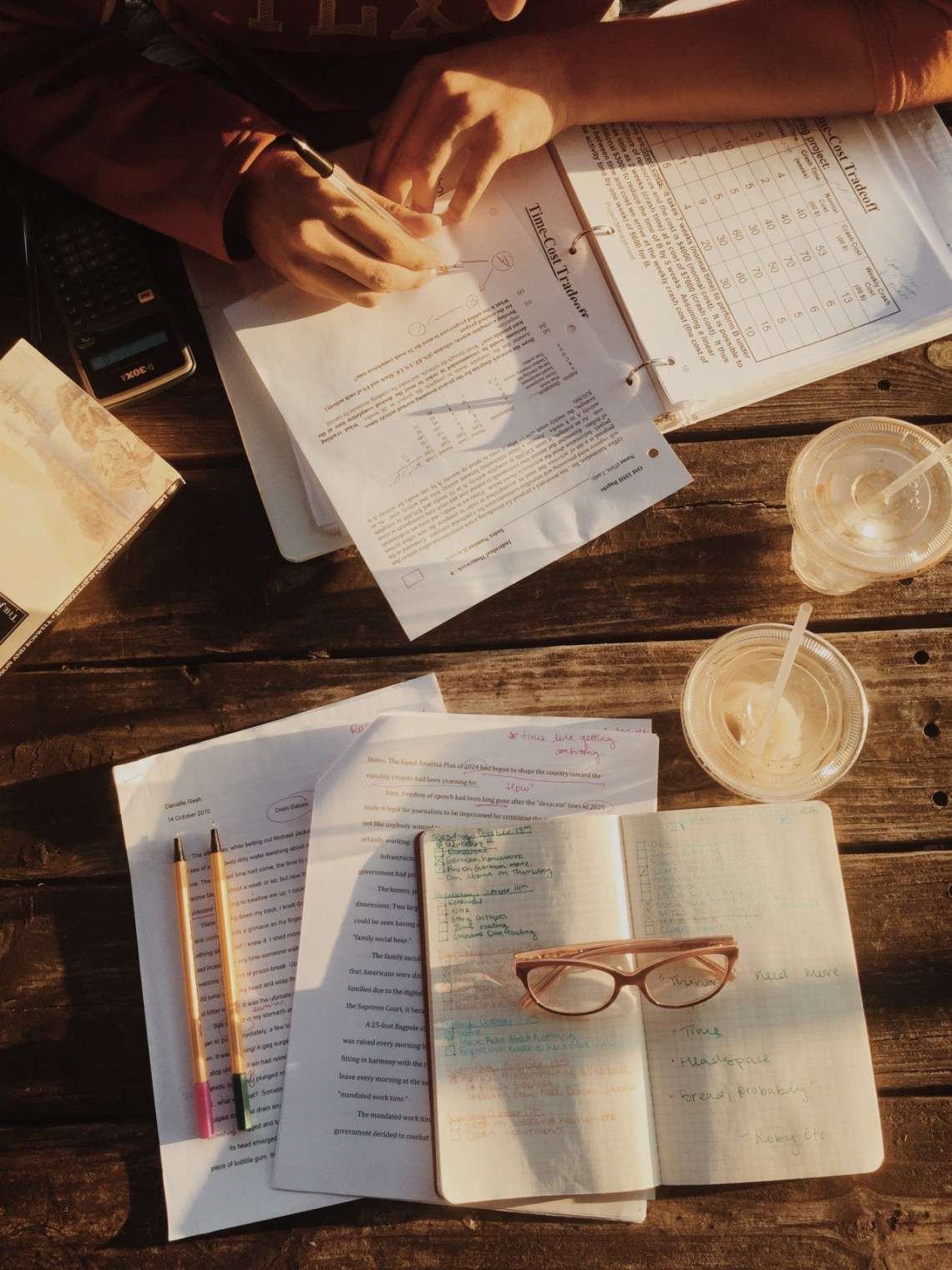 10/18/2015 || evening light, beautiful weather, and the mid-semester grind