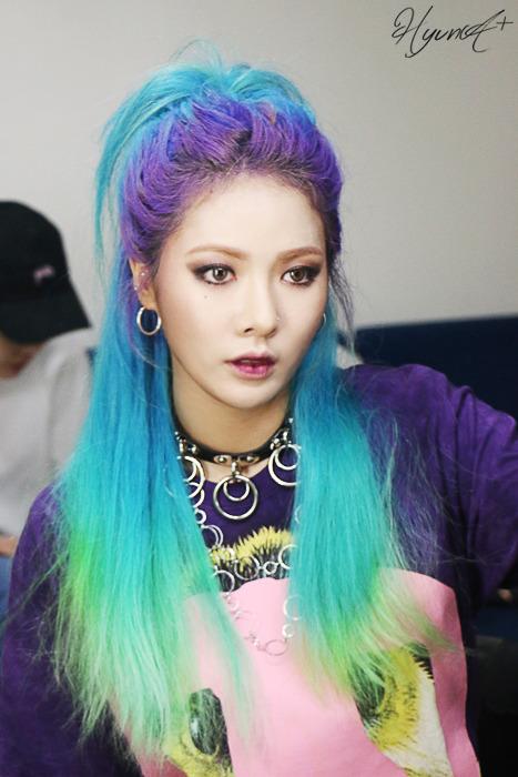 Hyuna Blue Hair Tumblr