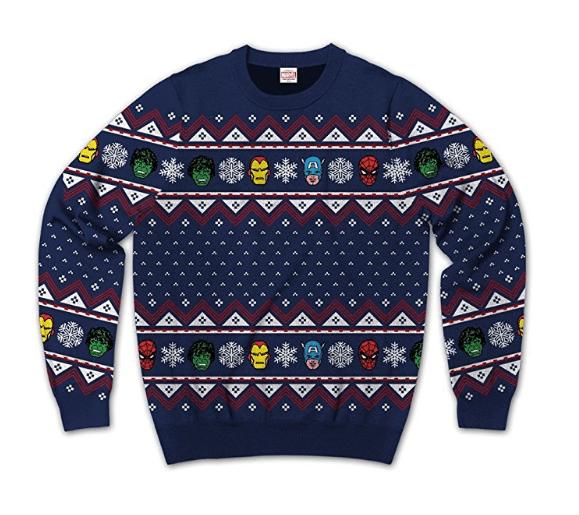 marvel group team up ugly sweater christmas sweatshirt