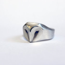 lesstalkmoreillustration:Handcrafted Geometric Owl Ring With Sapphire Eyes By ElinaGleizer On Etsy  *More Things & Stuff