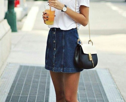$19.49 Get this button up denim skirt »here« !