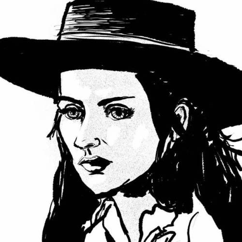 #millieperkins #drawnwithreference #drawnfromphoto #comics #comicbooks #zine #portrait #girl #comics #facesketch #sketchbook #sketch #drawing #illustration #portrait #girlsketch #cowgirl