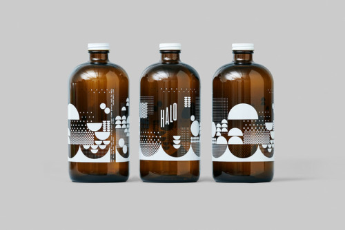 """tumblr_p2gajza2dS1r5vojso6_500 Packaging Design for Halo Brewery by way of Underline Studio""""Halo is an... Design"""