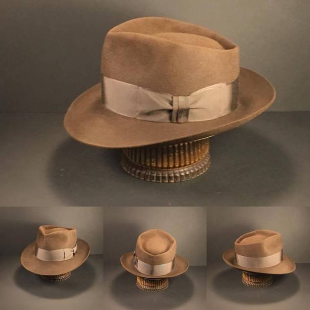 3aa12574aa294 Just finished this brown 6 point diamond crease with vintage brown ribbon.   penmanhats  OnlyPenman  bespoke  custommade  handmade  hat  hats  fedora ...