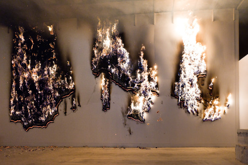 tumblr_mqb3uygs3L1qfc4xho1_500 Claire Fontaine Paris based totally collectivePIGS burningMusac Museum... Contemporary