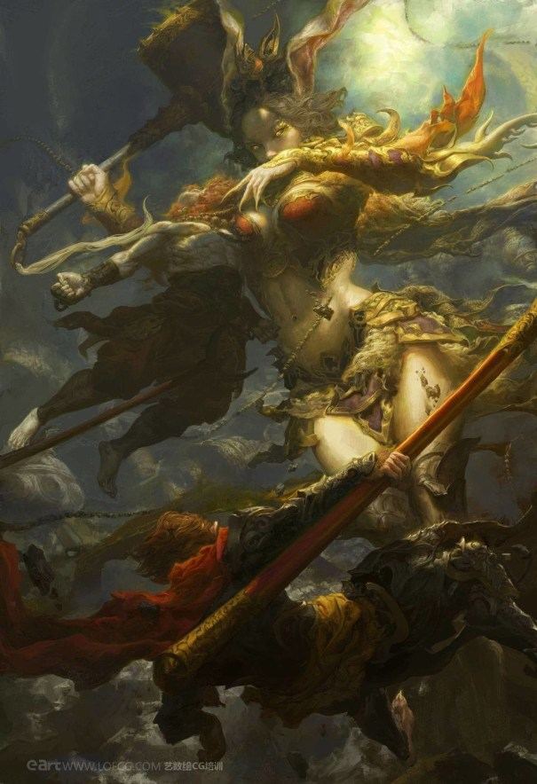 Queen of the monkeys by Fenghua Zhong – Fantasy