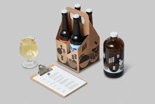 """tumblr_p2gajza2dS1r5vojso8_500 Packaging Design for Halo Brewery by way of Underline Studio""""Halo is an... Design"""