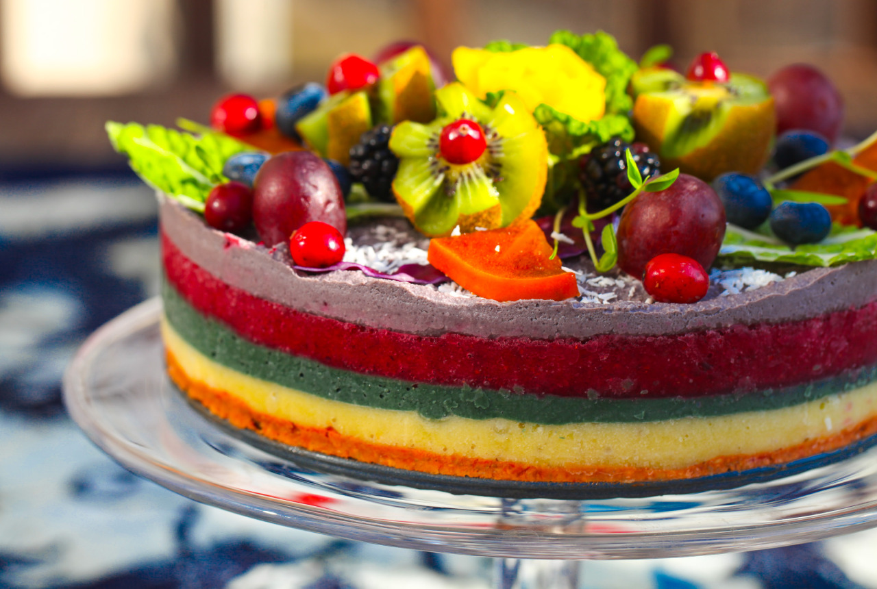 Olenko S Rainbow Raw Vegan Cake This Cake Is All