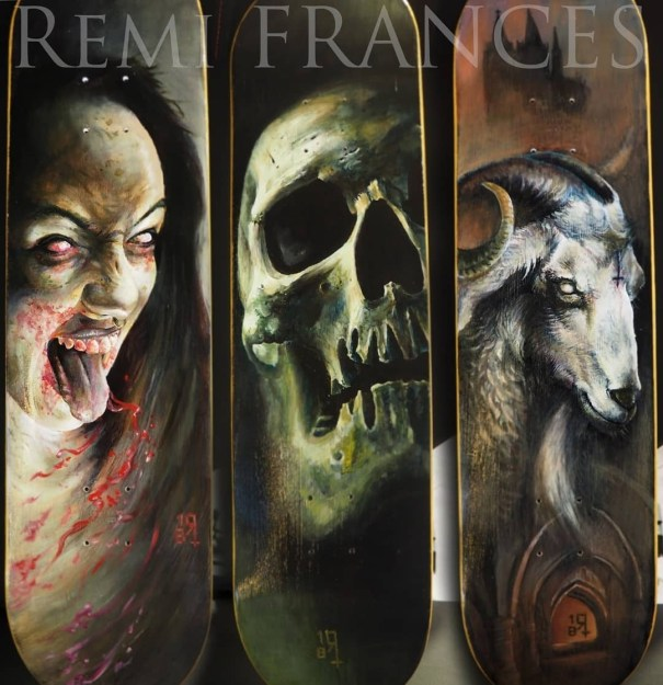 Badass custom skateboards from Remi Frances – Undead