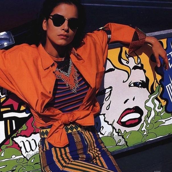 d6d7edfef481b Patricia Velasquez in US Elle January (1993)