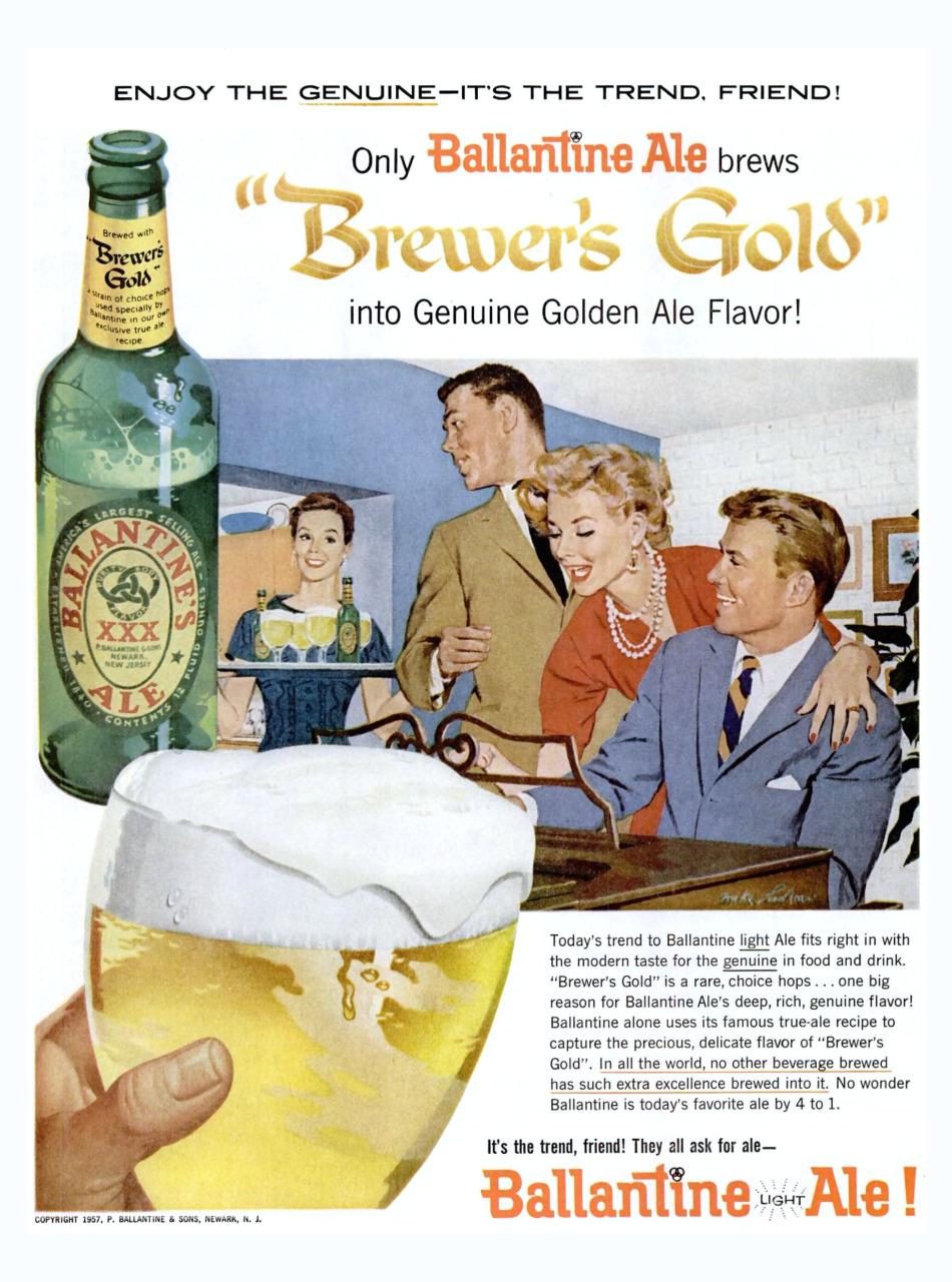 Ballantine Ale - 1957