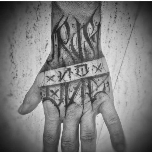 Trust Noone Tattoo On Hand Best Tattoo Ideas Gallery Tattoos Inspo