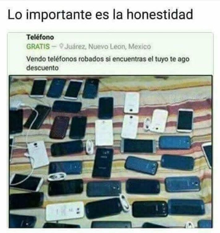Teléfonos móviles robados