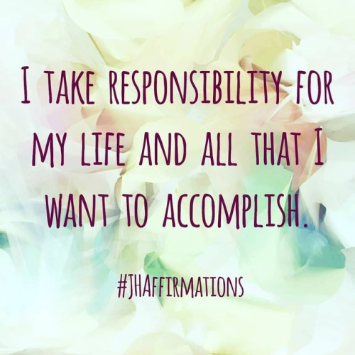 Take responsibility for your own life and happiness. It is no ones responsibilty to make you happy except for you #JHAffirmations #dailyaffirmationschallenge #dailyaffirmations #choosejoy #chooseyourreality #responsibility #lifechoices