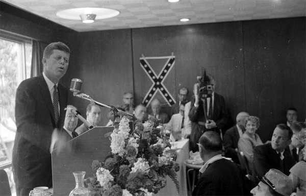 Image result for John F. Kennedy confederate flag