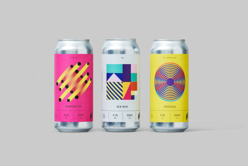 """tumblr_p2gajza2dS1r5vojso3_500 Packaging Design for Halo Brewery by way of Underline Studio""""Halo is an... Design"""