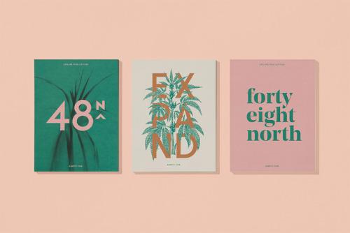 "tumblr_pdbh6xsGPp1r5vojso4_500 Brand identity for 48North by Blok Design""48North, a bold female... Design"
