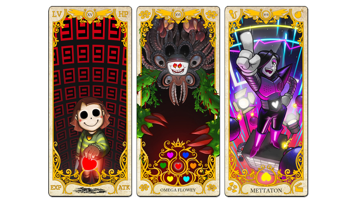Dogbomber Here It Is The Full Set Of Undertale Tarot