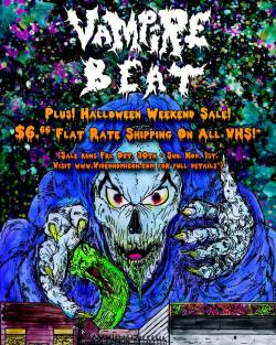 Tomorrow! #Videonomicon are providing live video mixing at #VampireBeat2015! Plus! We've got a #HalloweenSale over at our web store running all weekend! $6.66 flat rate shipping on all #VHS and other deals! Visit www.videonomicon.com for all the details!