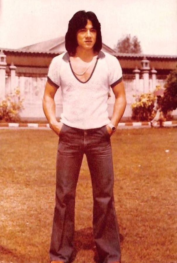 8a29be79a4610a Jackie Chan has always had a greats sense of style, see how he used to dress  himself when he was young!