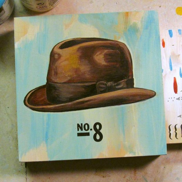 Some nites you end up painting a floating fedora